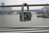 Love locks on Millennium Bridge, London (2)
