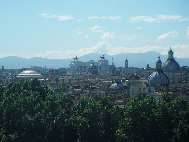 Rome skyline from Castel Sant'Angelo