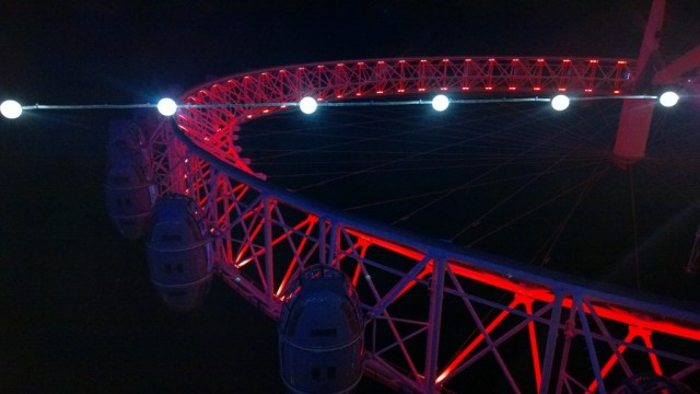 Red London Eye and lights