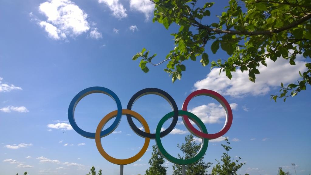 Olympic rings, Queen Elizabeth Park, London