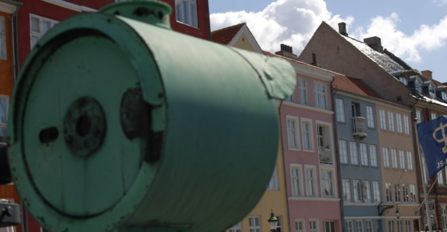Traffic lights and colour at Nyhavn, Copenhagen