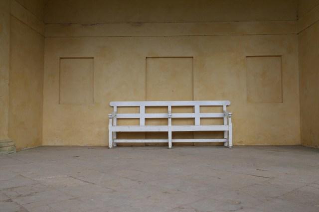 White bench pavilion Stowe Gardens