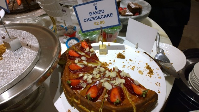 Baked cheesecake Ethos Restaurant London