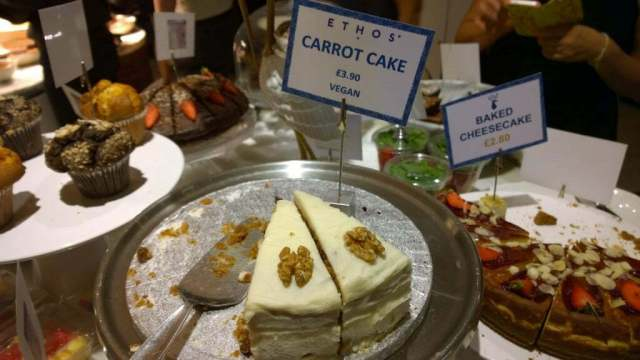 Carrot cake Ethos Restaurant London