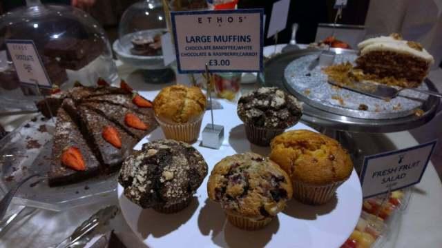 Large muffins Ethos Restaurant London