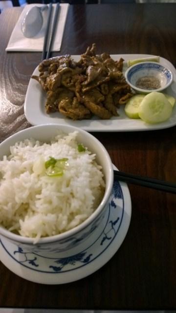 Bo Nuong Xa, grilled lemongrass beef rumptail, Bahn Mi Bay review, St Pauls