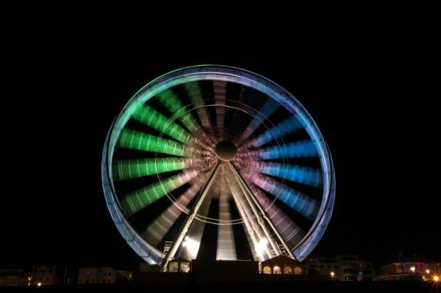 Brighton wheel rainbow colour