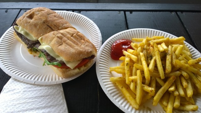 Los Pibes, traditional provenzal fries, Pump Shoreditch, London review