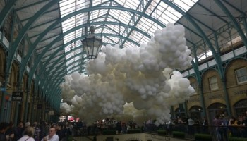 Review Charles Pétillon's Heartbeat Balloon Art Installation At Covent Garden day