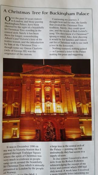 Buckingham Palace Christmas Tree