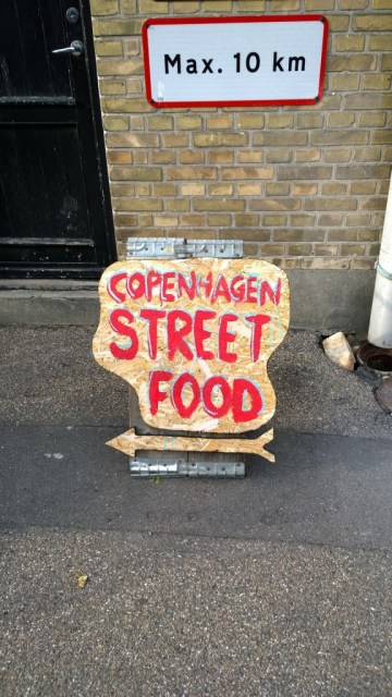 Copenhagen Street Food Festival sign