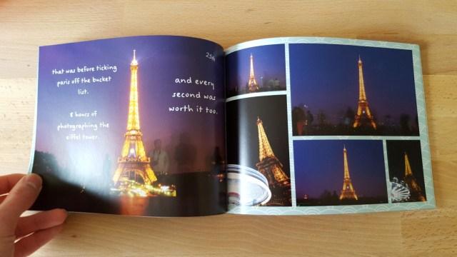 Travel book memories idea