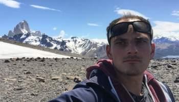Me (Jure Snoj) hiking around El Chalten in Argentinian Patagonia