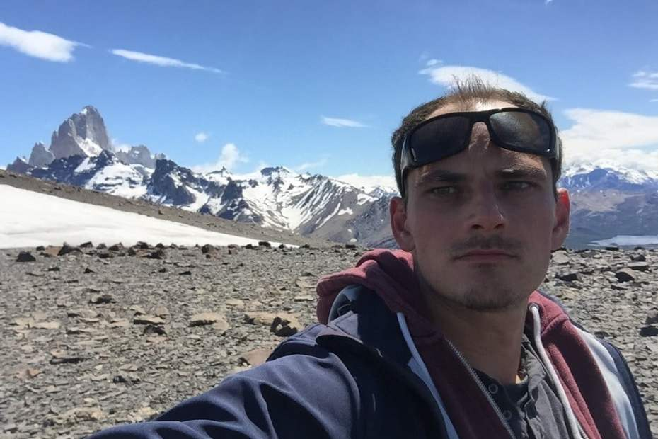 Me (Jure Snoj) hiking around El Chalten in Argentinian Patagonia