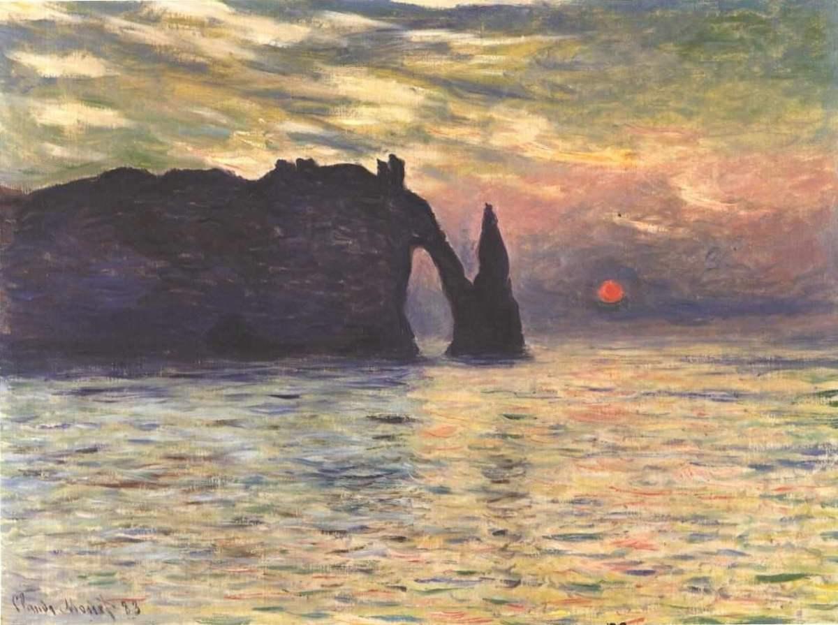 Monet painting of Etretat