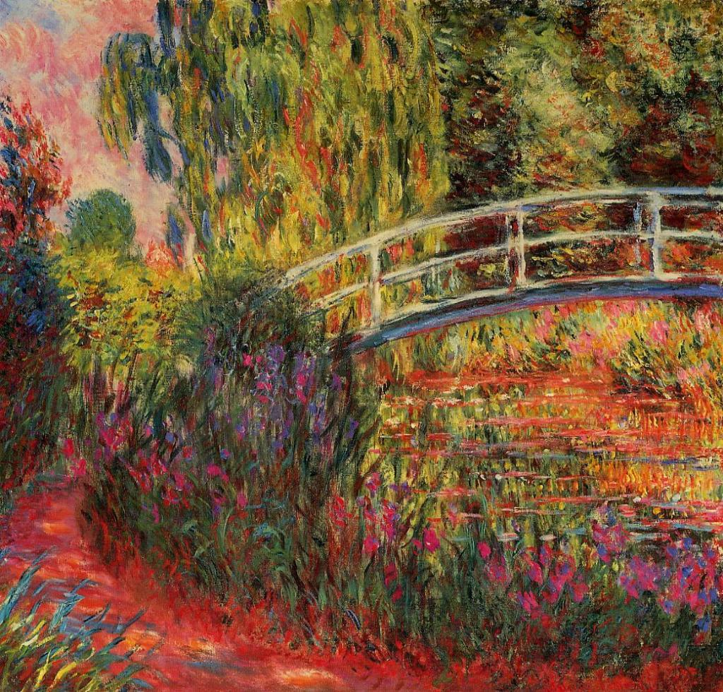 Water-Lily_Pond_in_Giverny_garden_Painting by Monet