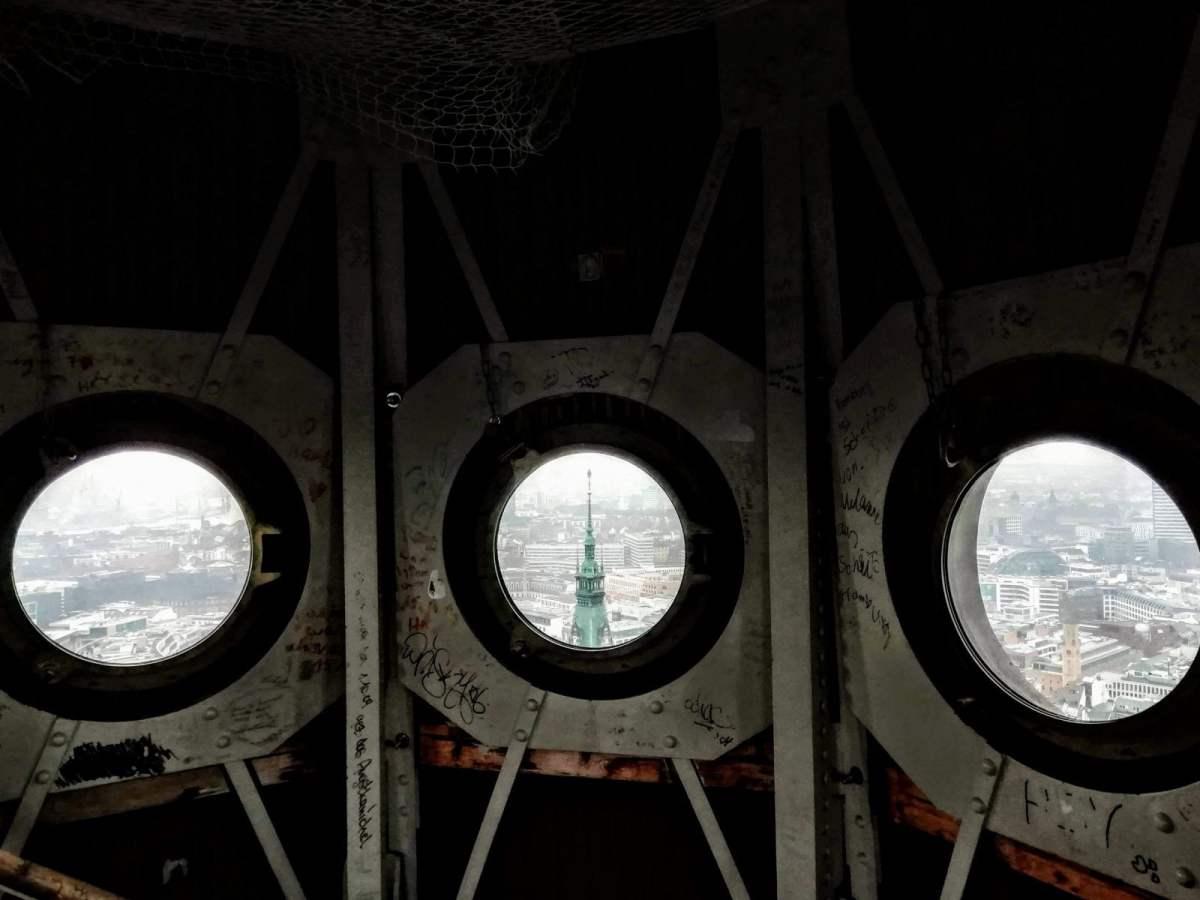 Porthole View From St. Peter's Church, Hamburg