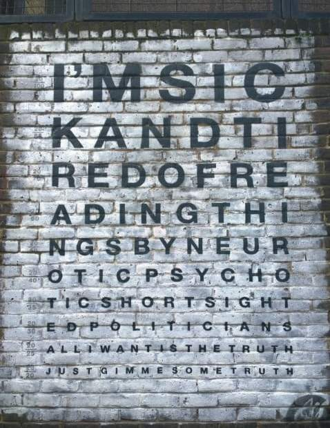 Gimme Some Truth - John Lennon   Shoreditch Street Art 7