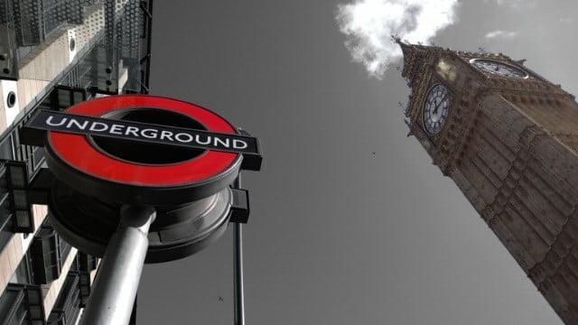 Underground sign and Big Ben