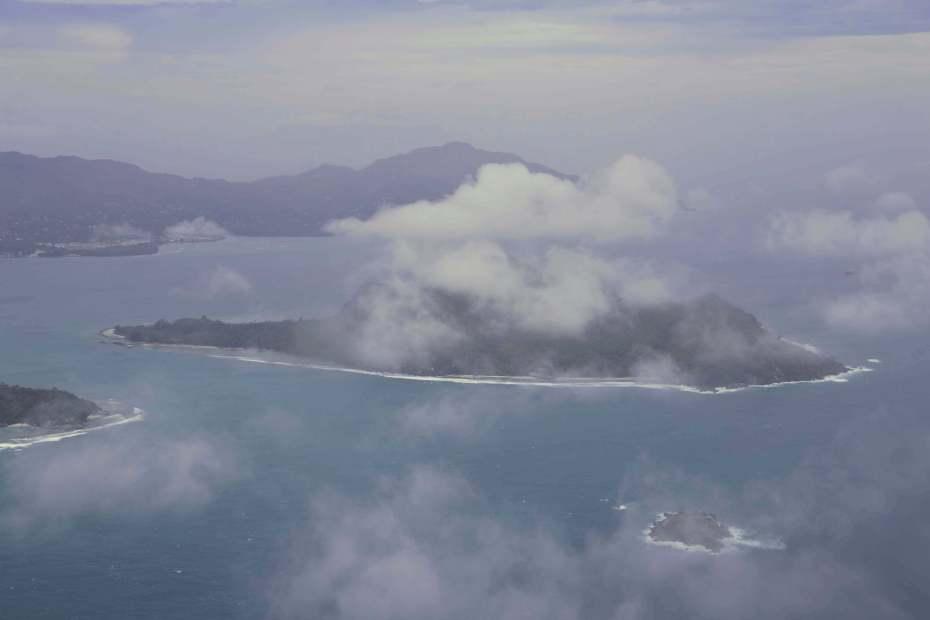Plane to Denis Island, Seychelles