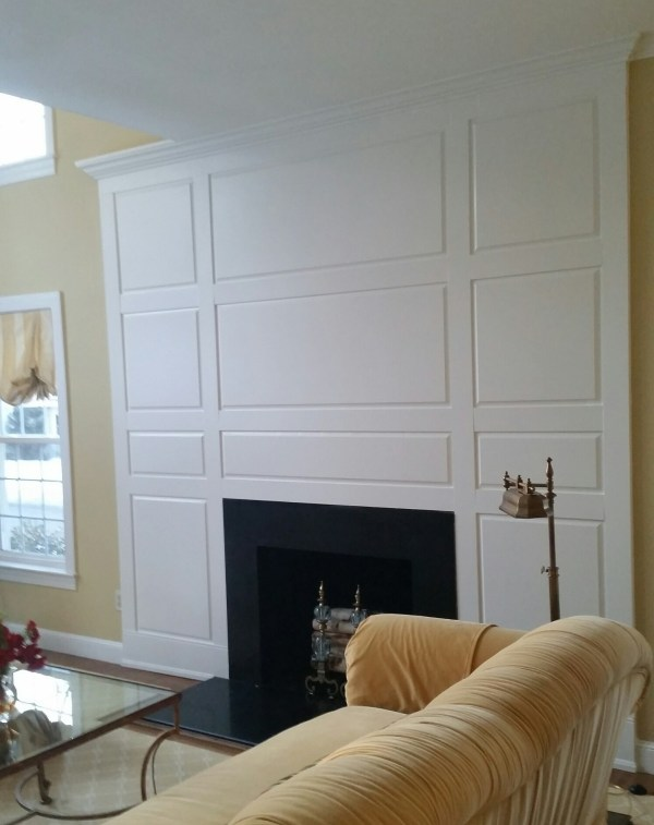 Fireplace with Raised Panel Walls