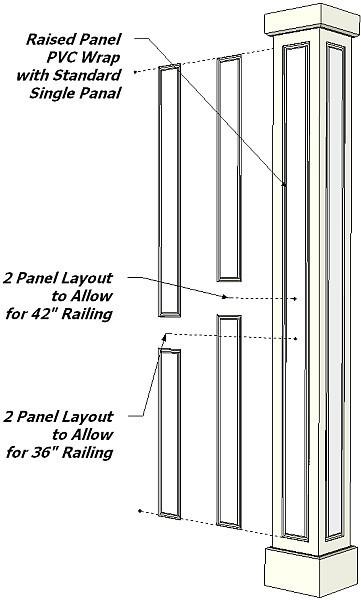 NonTapered PVC Column Drawings I Elite Trimworks
