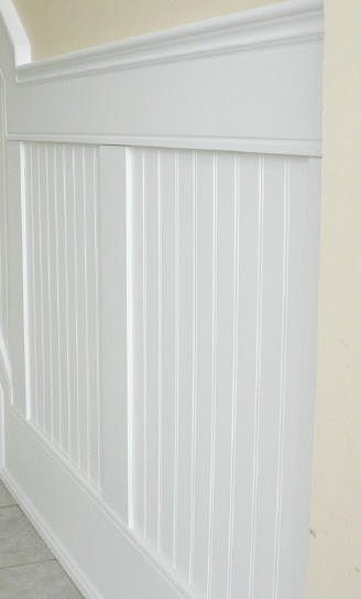 pictures of chair rails in bathrooms replacement high covers beaded paneled wainscot i elite trimworks