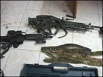 captured sas weapons