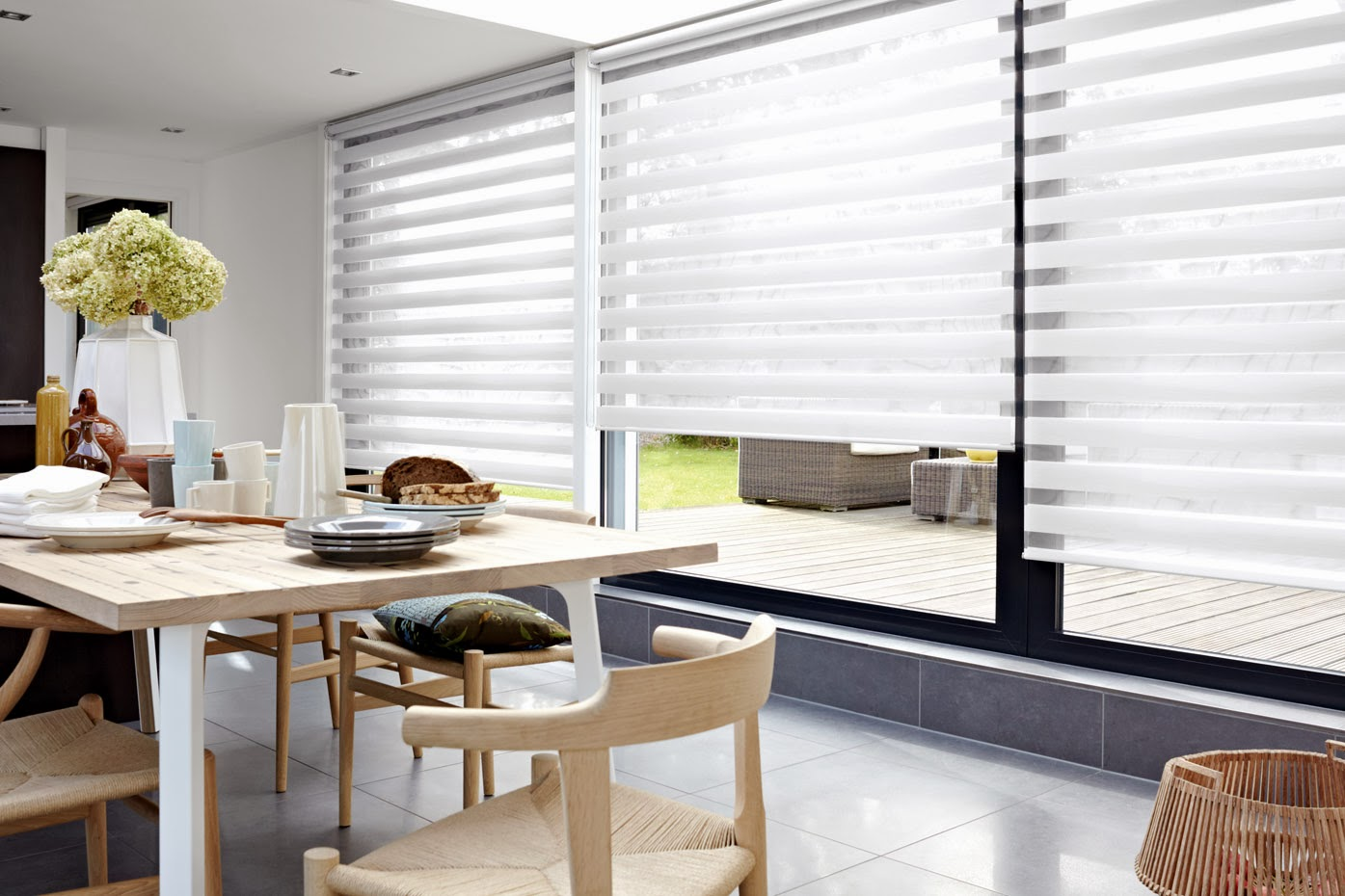 Elite Window Fashions HighLite Filtering Automated Shades