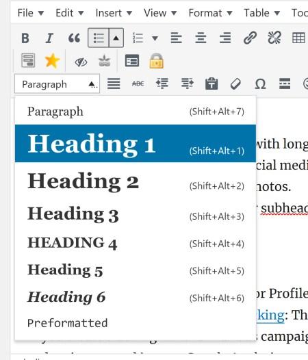 Headline Tags with WordPress