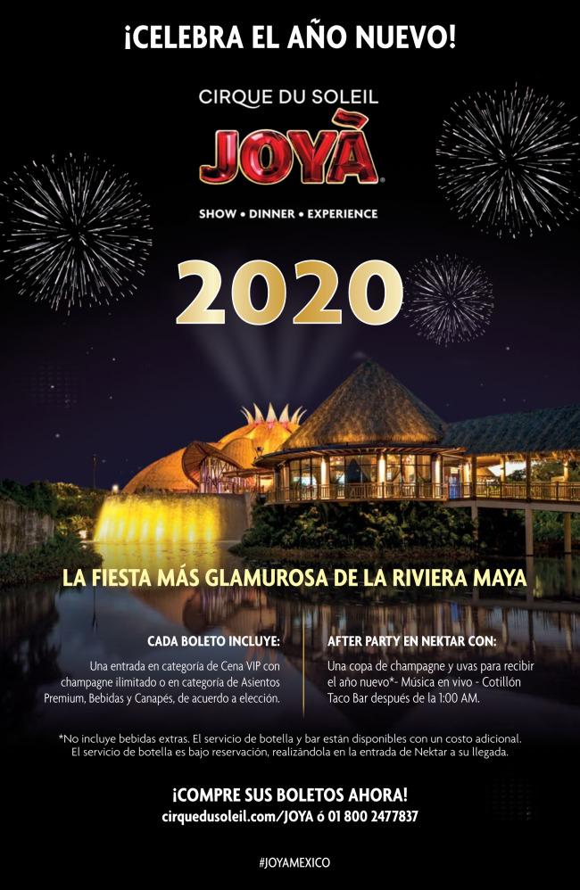 Año Neuvo en Circo de Soleil Riviera Maya