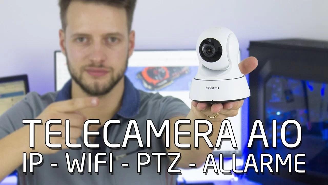 Telecamera All In One – IP WIFI PTZ con allarme