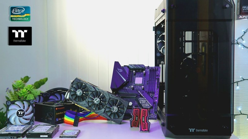 Time Lapse GAMING PC Build 2000€ | Thermaltake View 71 TG RGB