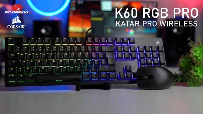 Corsair K60 RGB PRO e Mouse KATAR PRO WIRELESS | Recensione
