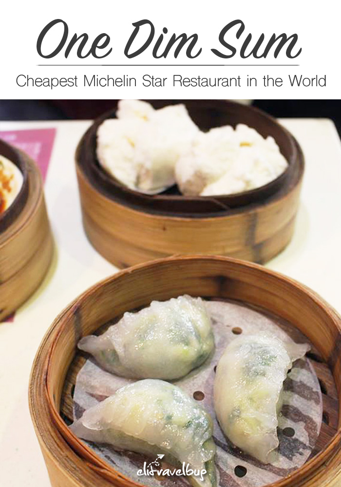 One Dim Sum - cheapest michelin star restaurant - Pin
