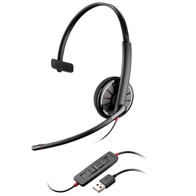 Poly Blackwire 310 UC MS Wired Mono Headset 85618-101