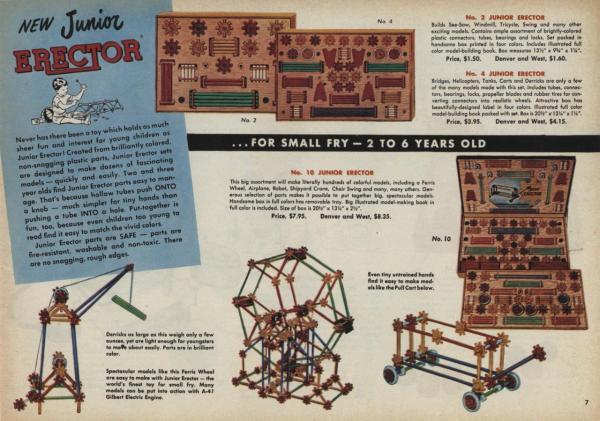 Junior Erector . Gilbert Catalog Archive