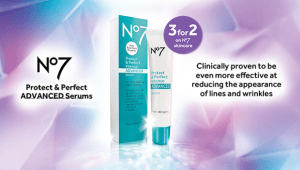 Boots Protect & Perfect 3 for 2 offer