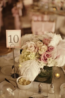 Elegant Pink White and Feathers Louisville Wedding The