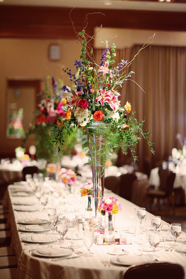 Tall Colorful Centerpieces  Elizabeth Anne Designs The