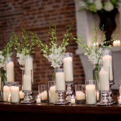 Rustic Elegant Living Room Designs Silver Mirror Furniture Candle-mantel - Elizabeth Anne Designs: The Wedding Blog