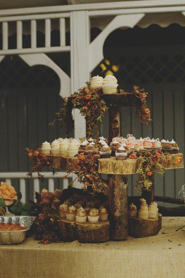 6 Interesting Natural Tree Trunk Cupcake Stand Elizabeth