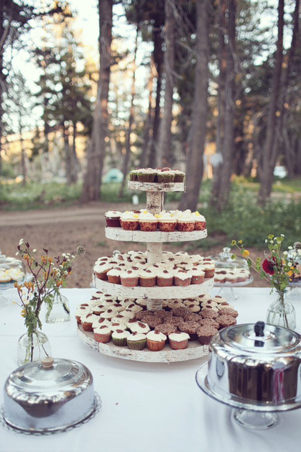 Woodsy Rustic Wedding Cupcakes Elizabeth Anne Designs