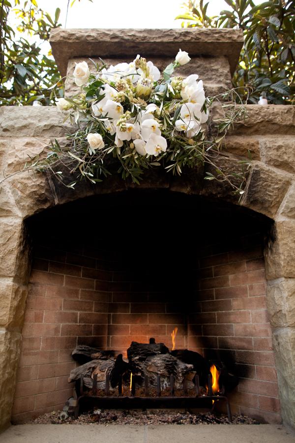FireplaceWeddingCeremonyBackdrop  Elizabeth Anne Designs The Wedding Blog