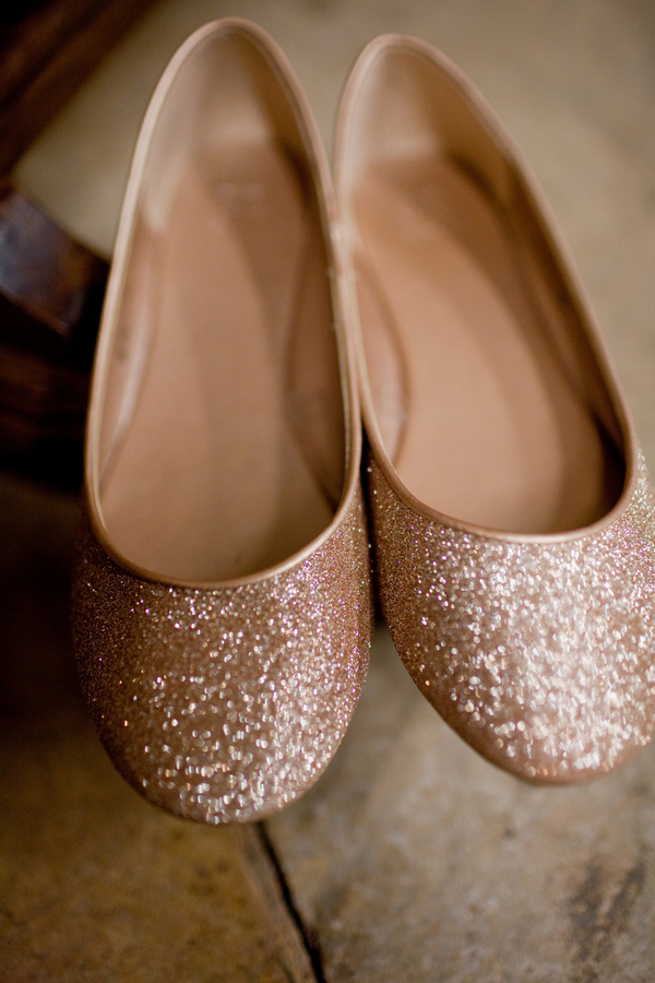 GoldGlitterFlatWeddingShoes  Elizabeth Anne Designs