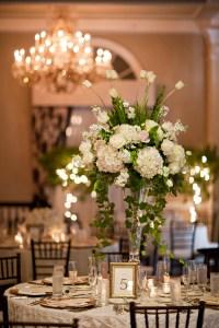 Tall White Wedding Centerpiece - Elizabeth Anne Designs ...