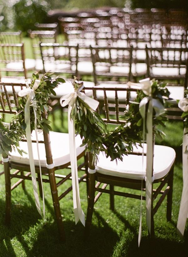 Garland Wedding Chair Decor  Elizabeth Anne Designs The Wedding Blog