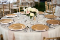Gold Charger Wedding Place Settings