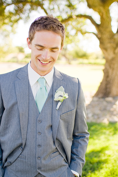 Groom In Seafoam Green Tie Elizabeth Anne Designs The Wedding Blog