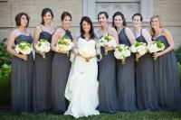 Long Charcoal Bridesmaids Dresses - Elizabeth Anne Designs ...
